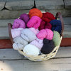 Pink Ribbon wool blend yarn 100 g