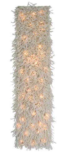 Paper yarn wall hanging with lights DIY kit  20 x 95 cm